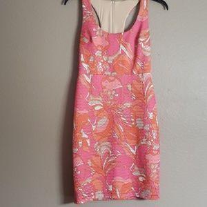 Trina Turk Size 6 razorback floral dress